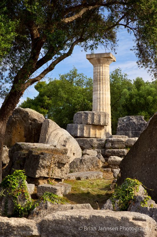 Temple of Zeus in Olympia Greece - home to the original Olympic Games, starting in 776 BC. © Brian Jannsen Photography