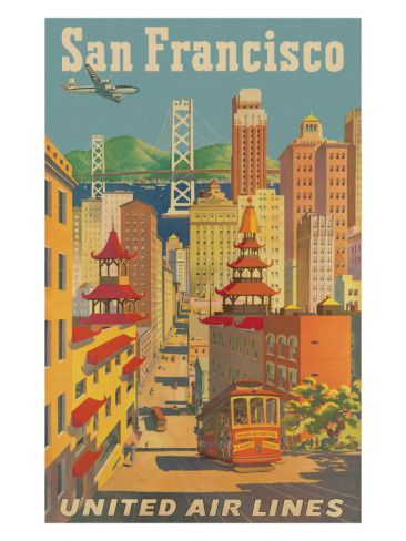 I love vintage travel posters. I can imagine hopping on a liner or plane or train and traveling in style
