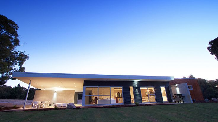 Architecturally designed contemporary home, modular design process, James Hardie Matrix Cladding, Colorbond.