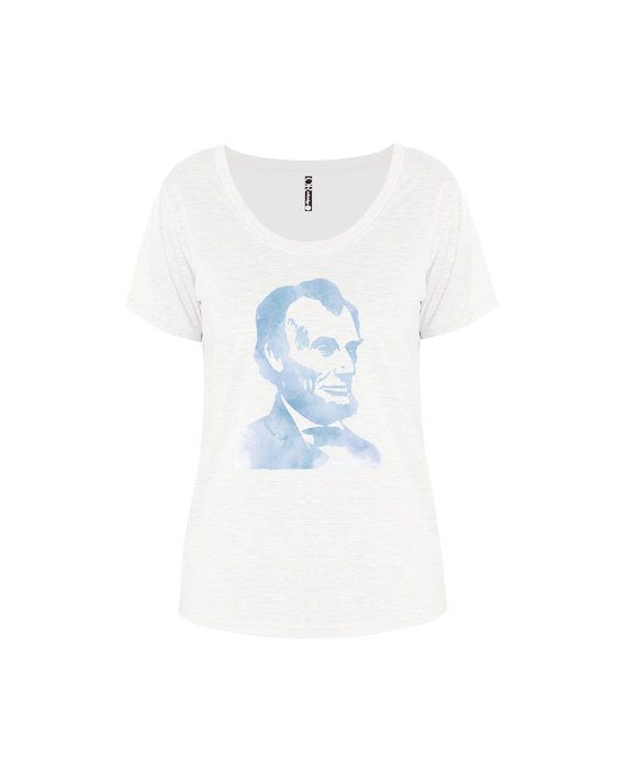 Ladies white tee Abraham Lincoln White T-shirt by ToastStationery