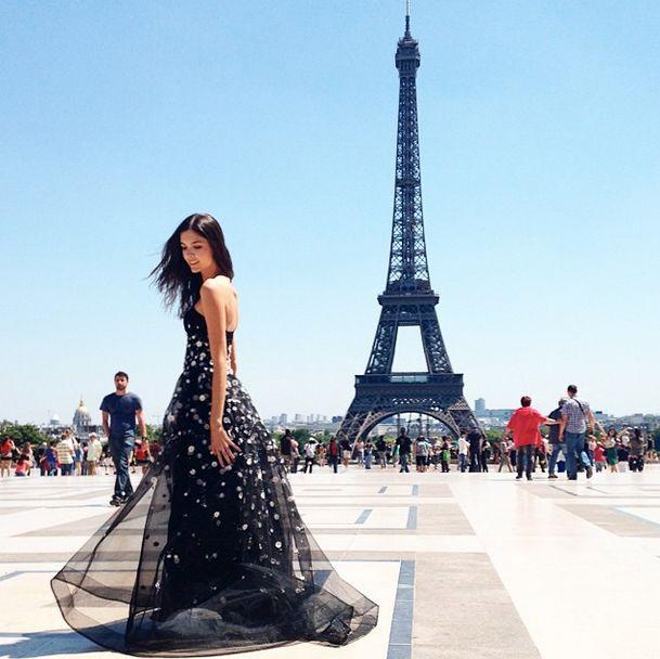 Carolina Herrera en Paris.