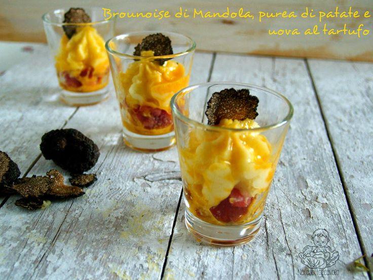 natosottoilcavolo: Brunoise di Mandola Peveri, purea di patate e uova...