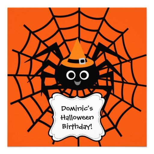 20 best halloween party invitation templates images on pinterest spider web halloween party invitation stopboris Images