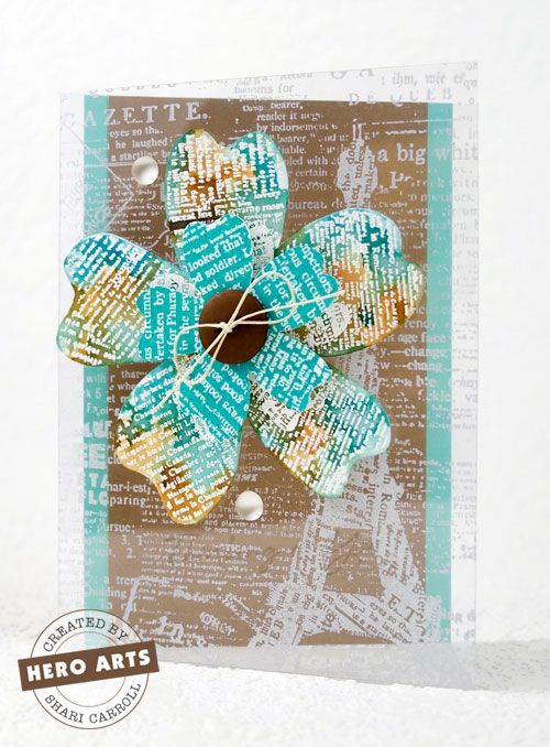 Card Making Ideas Using Acetate Part - 44: Kraft With Turquoise And White. My New Favorite Color Combo. Bonus... Acetate  CardsHero Arts CardsDistress ...