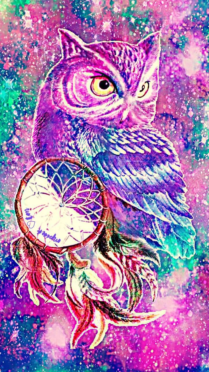 Dream Catcher Owl Iphone Android Galaxy Wallpaper Created By Mpink Galaxy Dreamcatcher Animal Dreamcatcher Wallpaper Galaxy Wallpaper Owl Dream Catcher