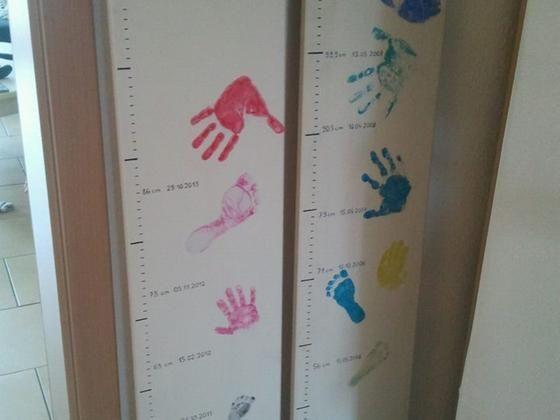 Messlatte für Kinder Bastelanleitung zum selber basteln Selber machen