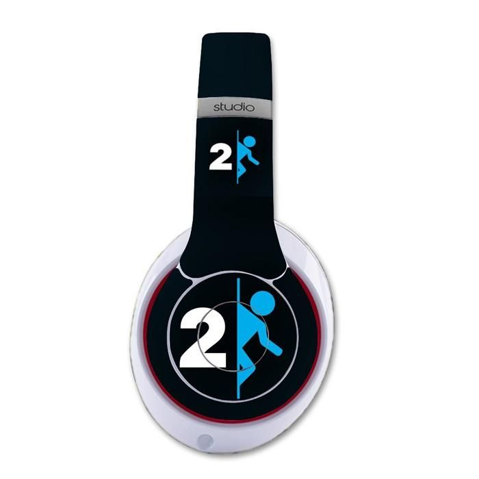 Portal 2 decal for Monster Beats Studio 2.0 wireless headphones