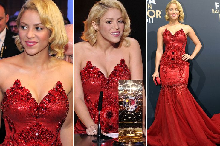 Shakira red dress for sale