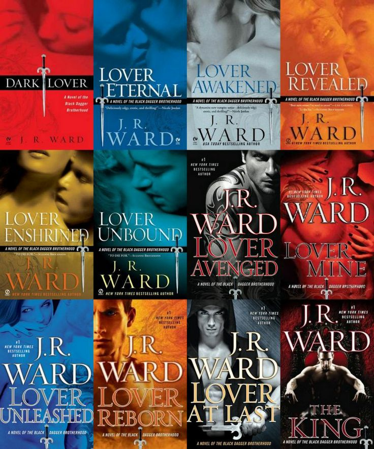 "J.R. Ward's ""Black Dagger Brotherhood"" paranormal series. Awesome books! I own and have read them all except the last one, ""The King"". Will be ordering ASAP!!!"