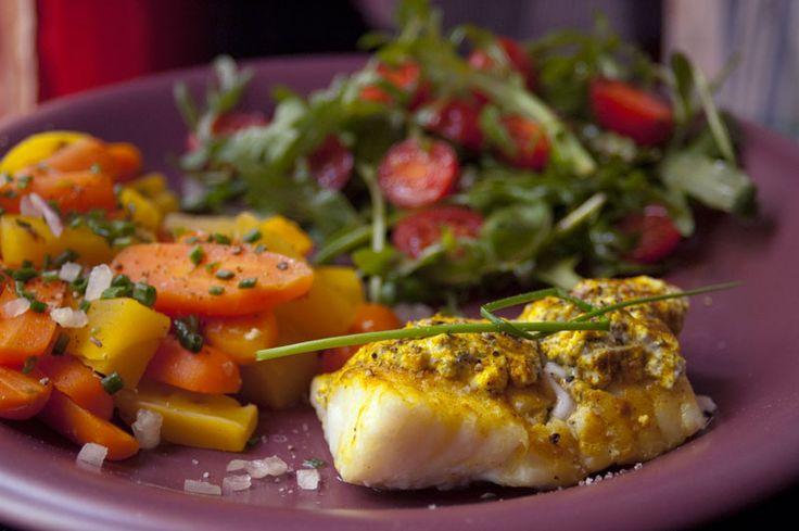 Dos de loup St Môret et curry, carrottes jaune et oranges - Micro Vap' - Recette de Cuisine ~ Mademoiselle Cuisine : recettes, astuces, actu cuisine