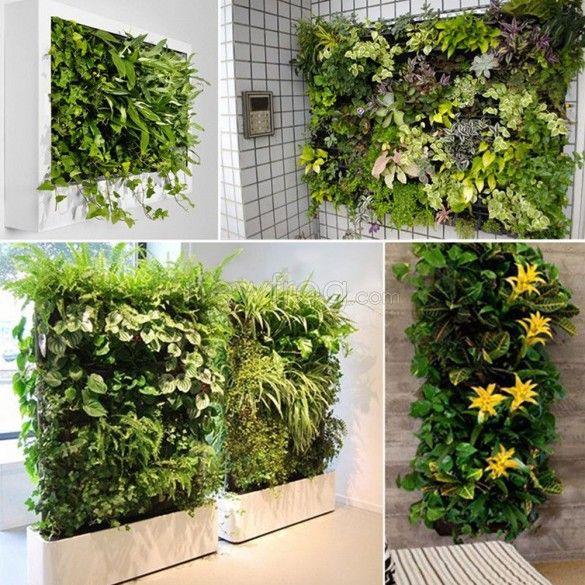 64 Pocket Hanging Vertical Garden Planter Indoor Outdoor Plant Bag Photo 3