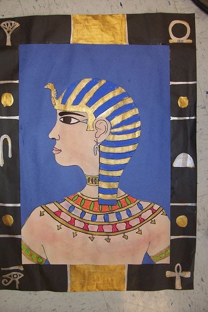 Egyptian Inspired Self Portraits by k-12 art lesson plans, via Flickr