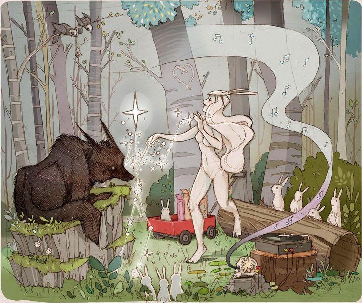 Chiara Bautista, mejor conocida como Milk, es una fantástica ilustradora cuyo trabajo he tenido el placer de conocer hoy. Buscando imágenes...
