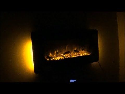 CostCo Ember Hearth 1147823 36-inch Curved Wall Mount Electric Fireplace Space Heater Well Universal - YouTube