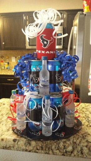 Houston Texans beer cake wish I had more time to add some cigars and more liqour