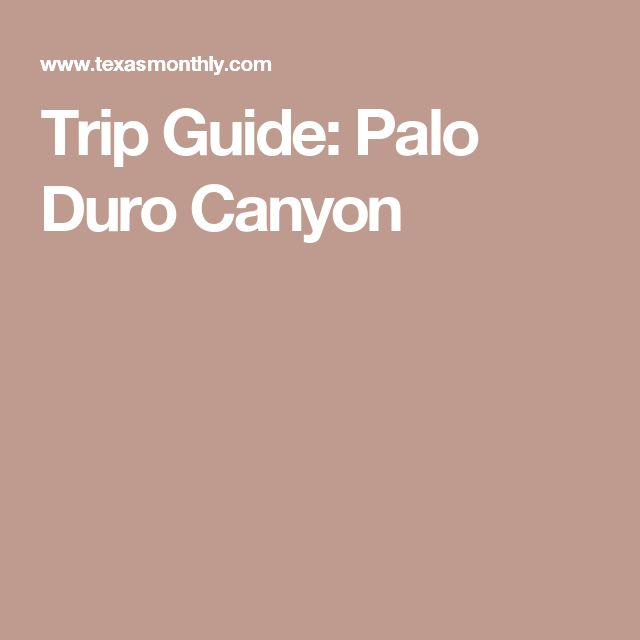 Trip Guide: Palo Duro Canyon