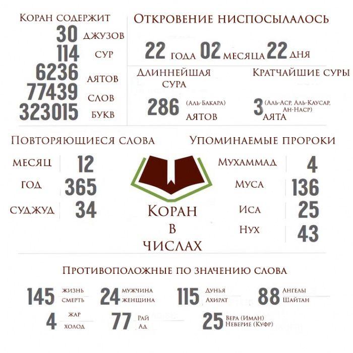 ИНФОГРАФИКА: Священный Коран в числах