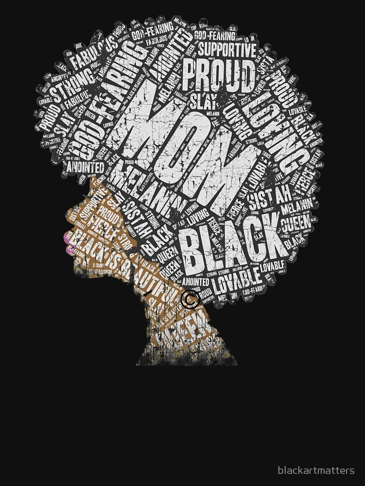 Mother S Day Black Mom Natural Hair Word Art Black Women