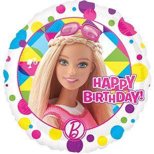 Balloons 18 Barbie Happy Birthday Foil Balloon Each 350