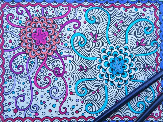 Zendoodle Coloring Book Zentangle Page Adult