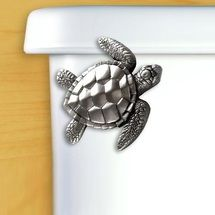 Sea Turtle Pewter Toilet Flush Handle. Sea Turtle DecorBathroom ...