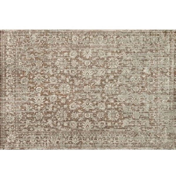 """Loloi Nyla 7'6"""""""" x 10'5"""""""" Power Loomed Rug ($820) ❤ liked on Polyvore featuring home, rugs, mocha cherry, taupe rug, viscose area rugs, taupe colored area rugs, coloured rug and loloi rugs"""