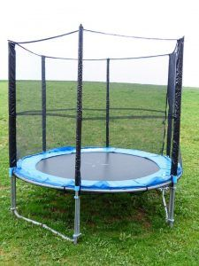 Skyhigh start their range of round trampolines at 8ft but the most popular round trampolines go up to 14ft and 16ft. http://www.goplayoutsidefoundation.org/activity-ideas