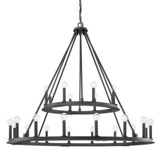 Capital Lighting Pearson Collection 24-light Black Iron Chandelier