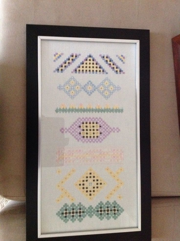 Apiece of hardanger I completed last year framed and looking great