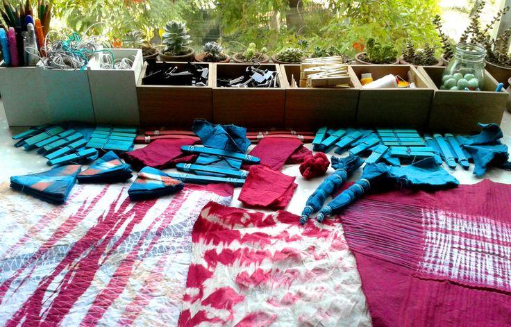 Curso de SHIBORI nivel intermedio - Taller Francisca Núñez Reveco – Shibori, batik, papel, telar: arte y diseño textil en Santiago de Chile