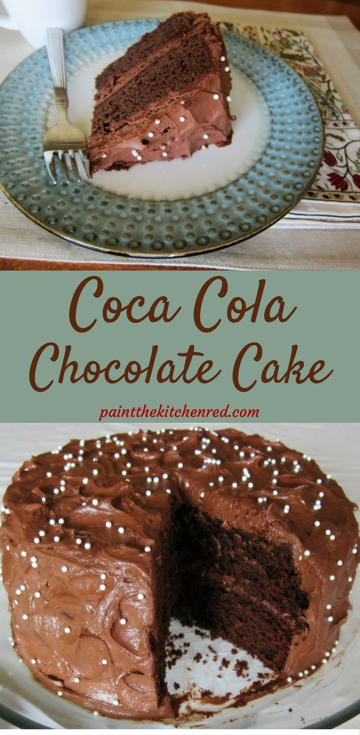 This Coca Cola cake is a deliciously rich and indulgent chocolate cake, perfect for a special occasion; it's the ultimate treat for a chocolate lover!