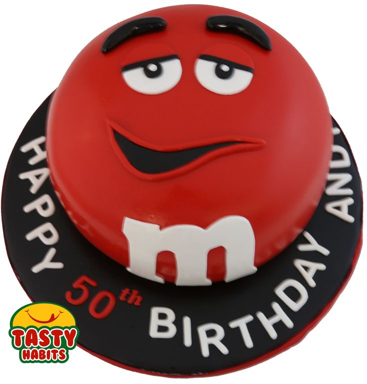 Custom Design Cakes: M&Ms themed 8""