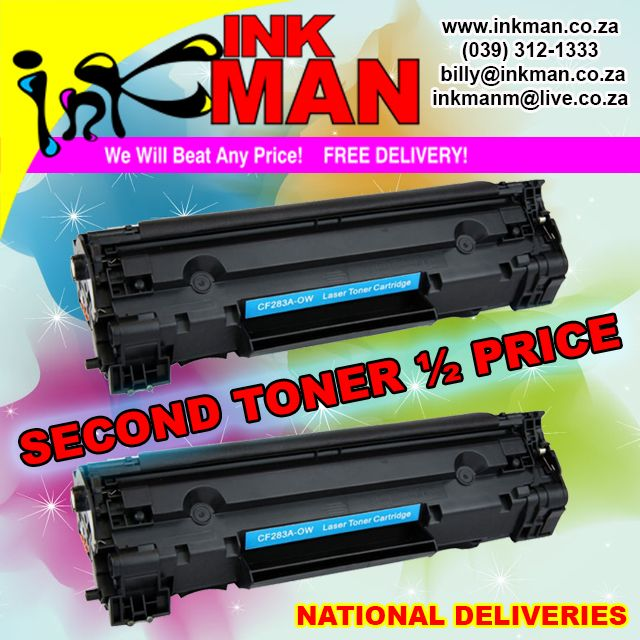 Buy 1 get 50% off the 2nd #TONER orders. All #deliveries on the #SouthCoast #FREE #INKman