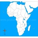 Africa Control Map – Unlabeled Geography
