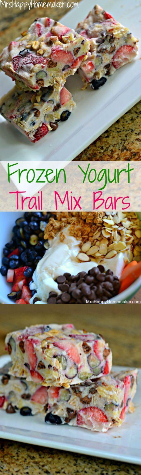 Frozen Yogurt Trail Mix Bars Healthy Recipes | Dish