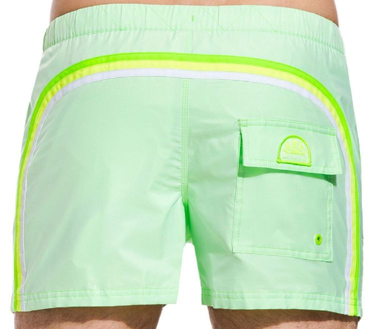 Costume Uomo Sundek m520bdp6000 fluo green beachwear elastic large L L L L