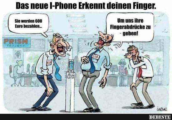 Das neue iPhone erkennt deinen Finger.. | Lustige Bilder, Sprüche, Witze, echt lustig