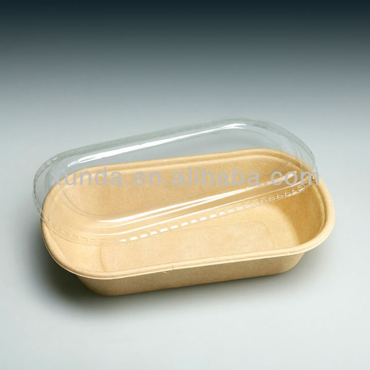 biodegradable packaging with clear lid