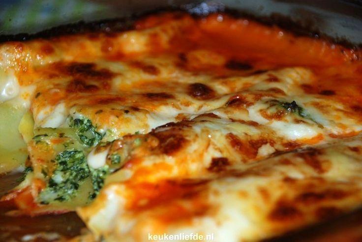 Cannelloni met spinazie à la crème en ricotta