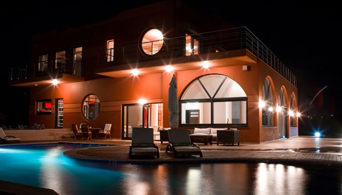 Villa Kirki Tersanas, Chania: Unique architecture in combination with stunning sea views of Kalathas bay, Chania. View more & make a reservation: http://www.mysunnyescapes.com/svilla.php?id=1
