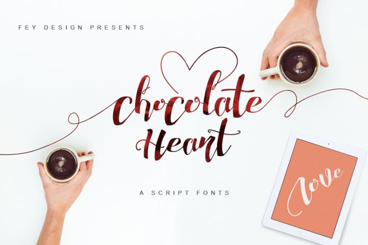 Chocolate Heart Script Font included in our Best Seller II Bundle ..
