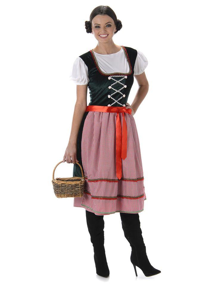Tragen Sie an Karneval oder am Oktoberfest diese typische bayrische Tracht für Frauen.