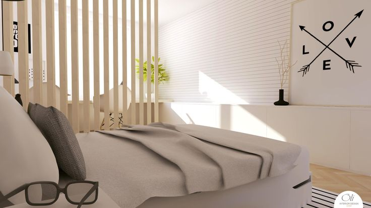 #Bedroom #renovation - 3D Visualization - by Oli Interior Design Studio #modern #blackandwhite #monochromatic #scandinavian #interiordesigner #edesign #onlineservice