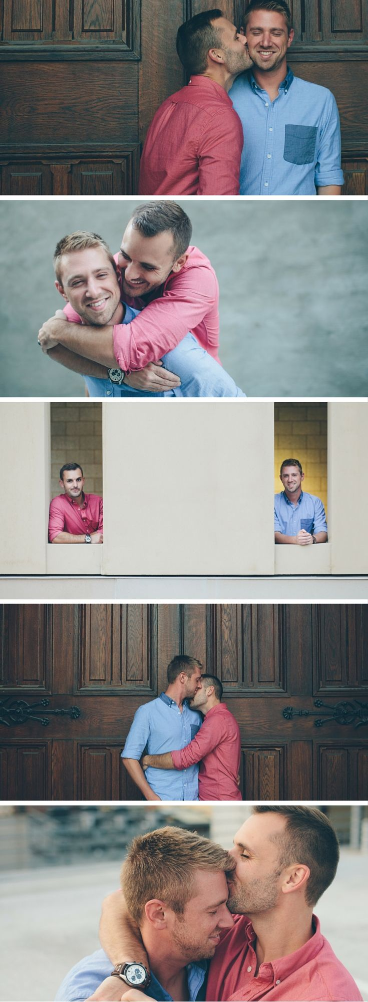 These beautiful modern gay engagement photos perfectly capture this couple's love. Image Credit: Cassandra Zetta Hernandez