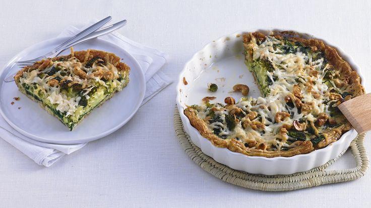 Recept: Broccoli-spinazietaart | AH.nl