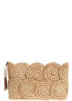 Rio Raffia Clutch in Natural