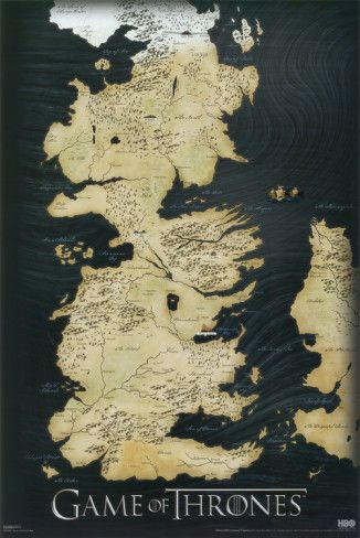 All I want for Christmas is a map of Westeros (Game of Thrones - Map Poster)...That'll be nice ;')