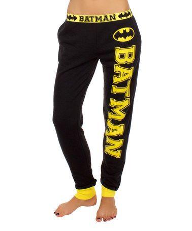 Loving this Black & Yellow Batman Joggers Pant - Women on #zulily! #zulilyfinds