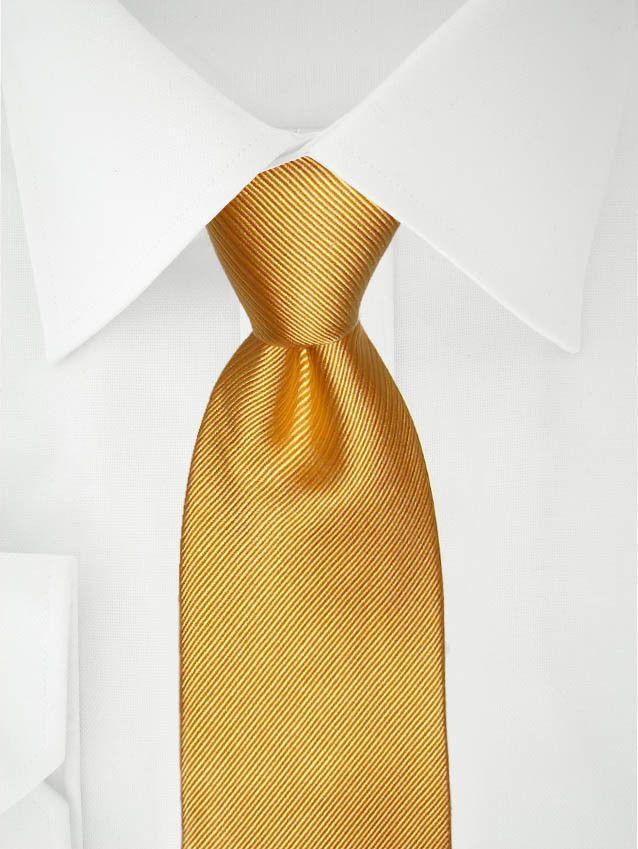 Cravate jaune or à deux tons