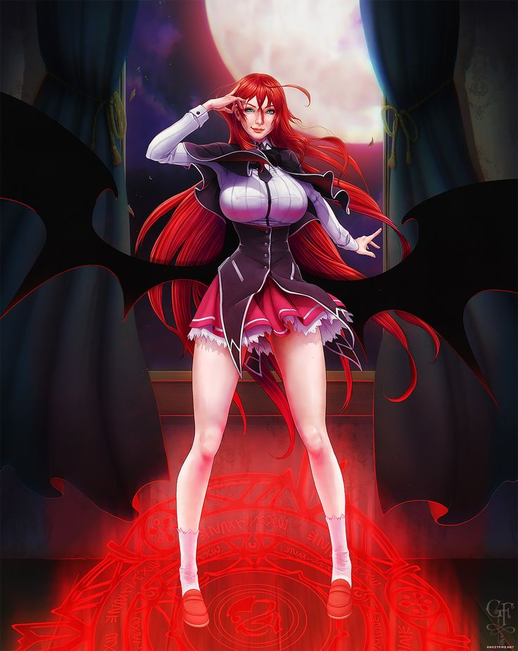 Highschool dxds rias gremory crimson princess by